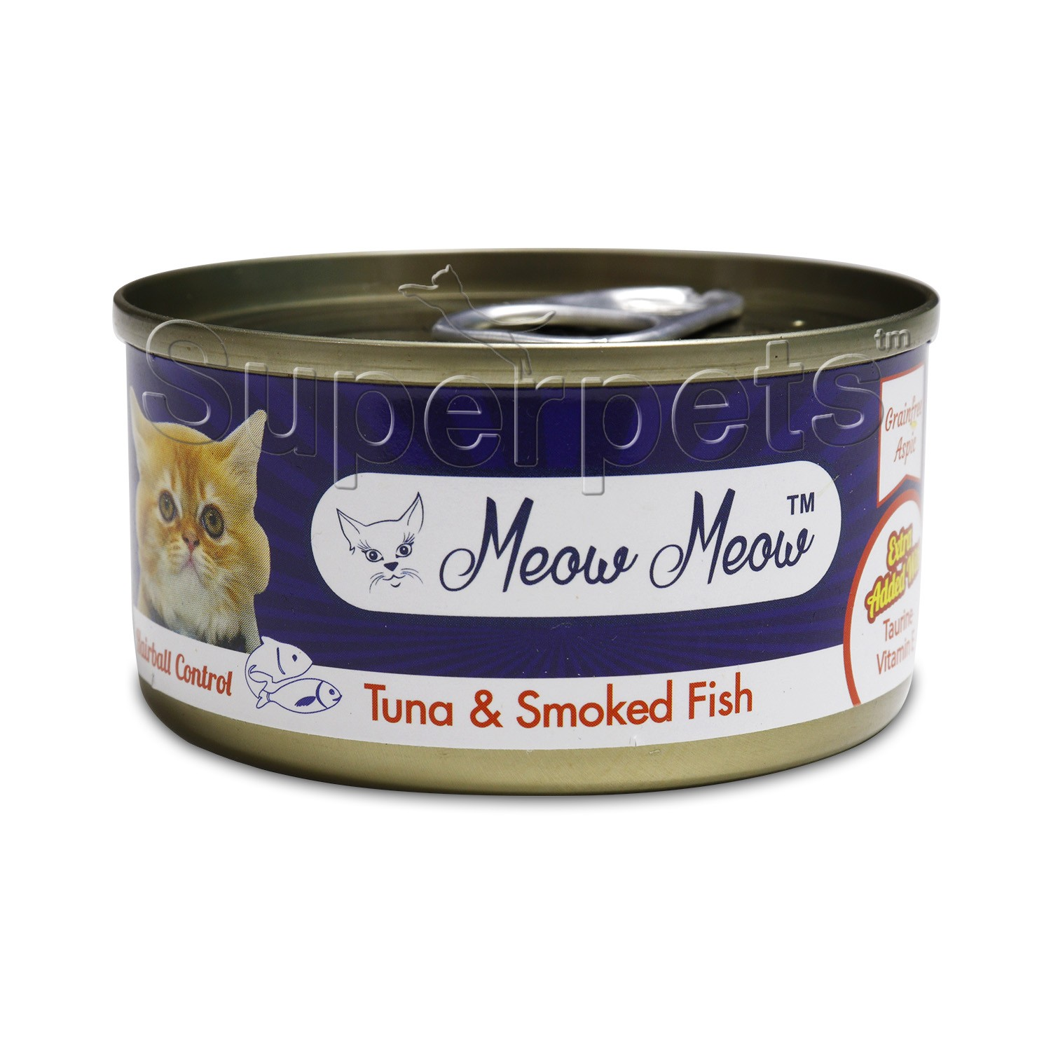 Meow Meow – Tuna & Smoked Fish – Grain Free 80g