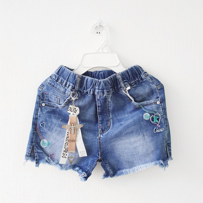 Denim Shorts with Butterfly Charm