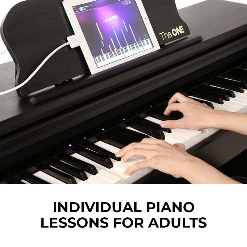 Individual Piano Lessons for Adults