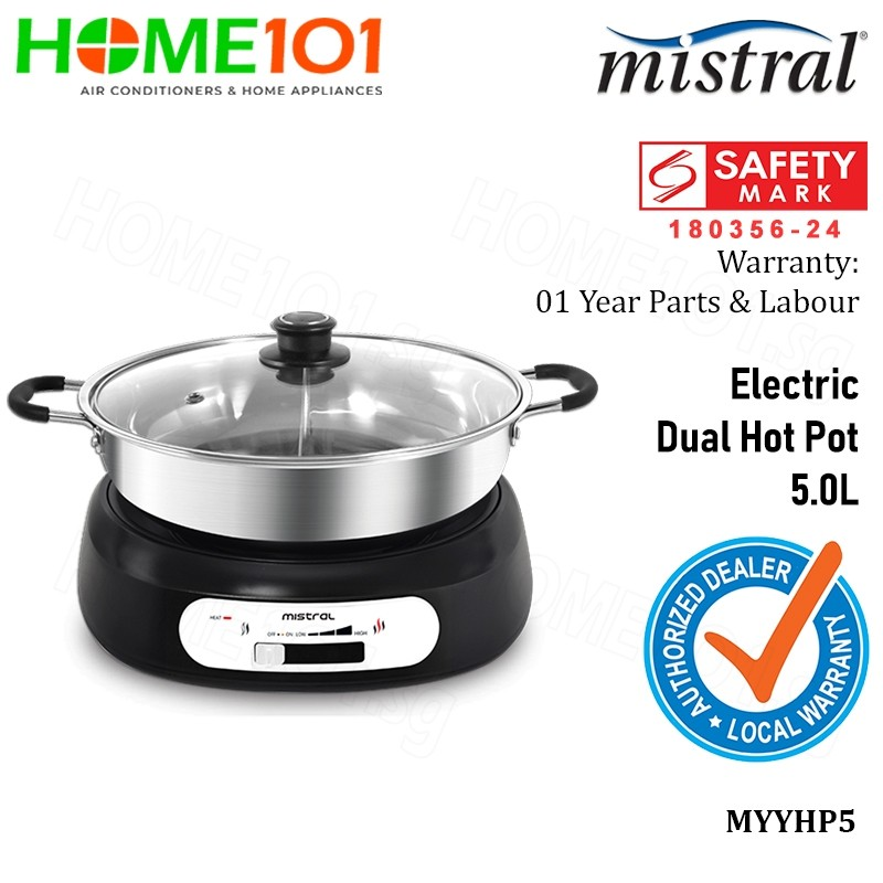 Mistral Electric Hot Pot 1600W 5.0L MYYHP5