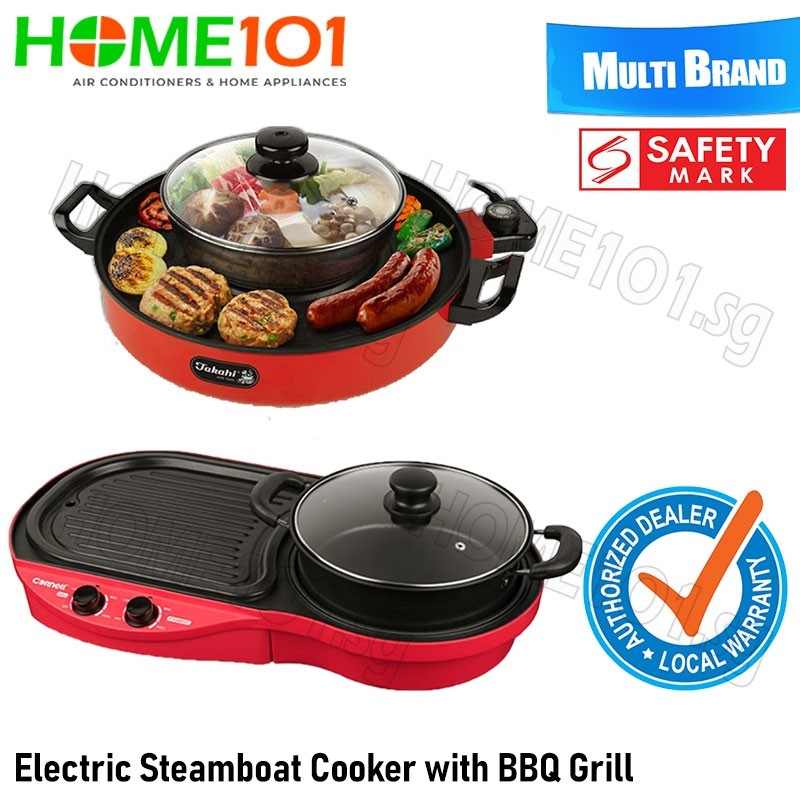 Electric Steamboat Cooker and BBQ Grill [MULTI MODELS]