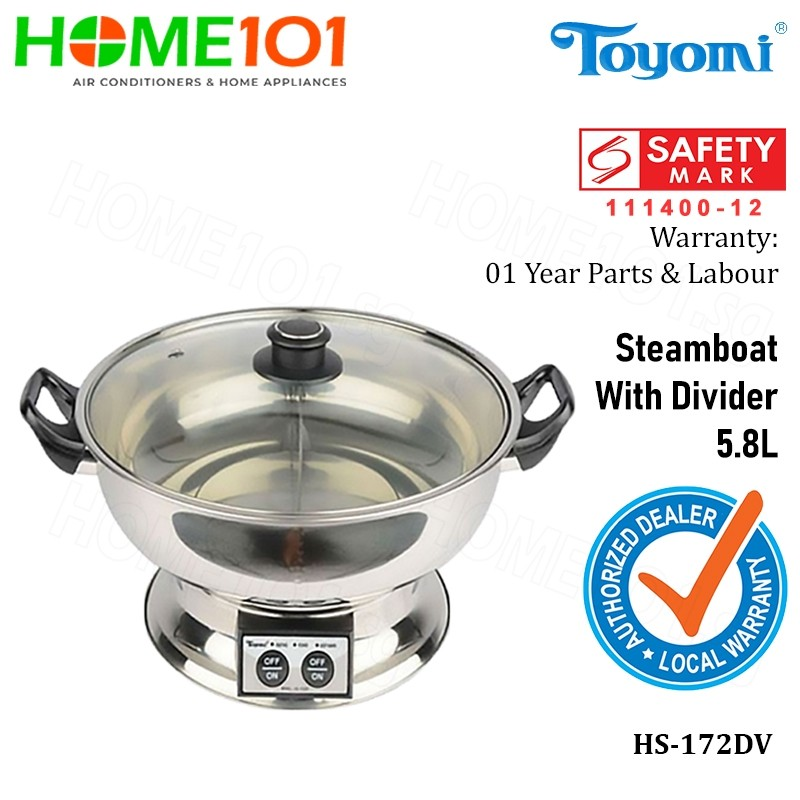 Toyomi Steamboat with Divider 5.8L HS-172DV